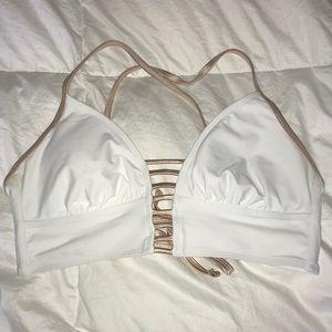 White and Gold Bikini Top
